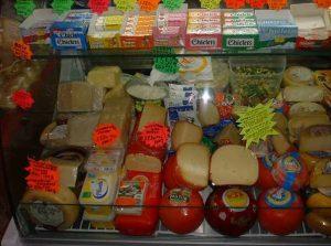 Cheese selection at Benedito's