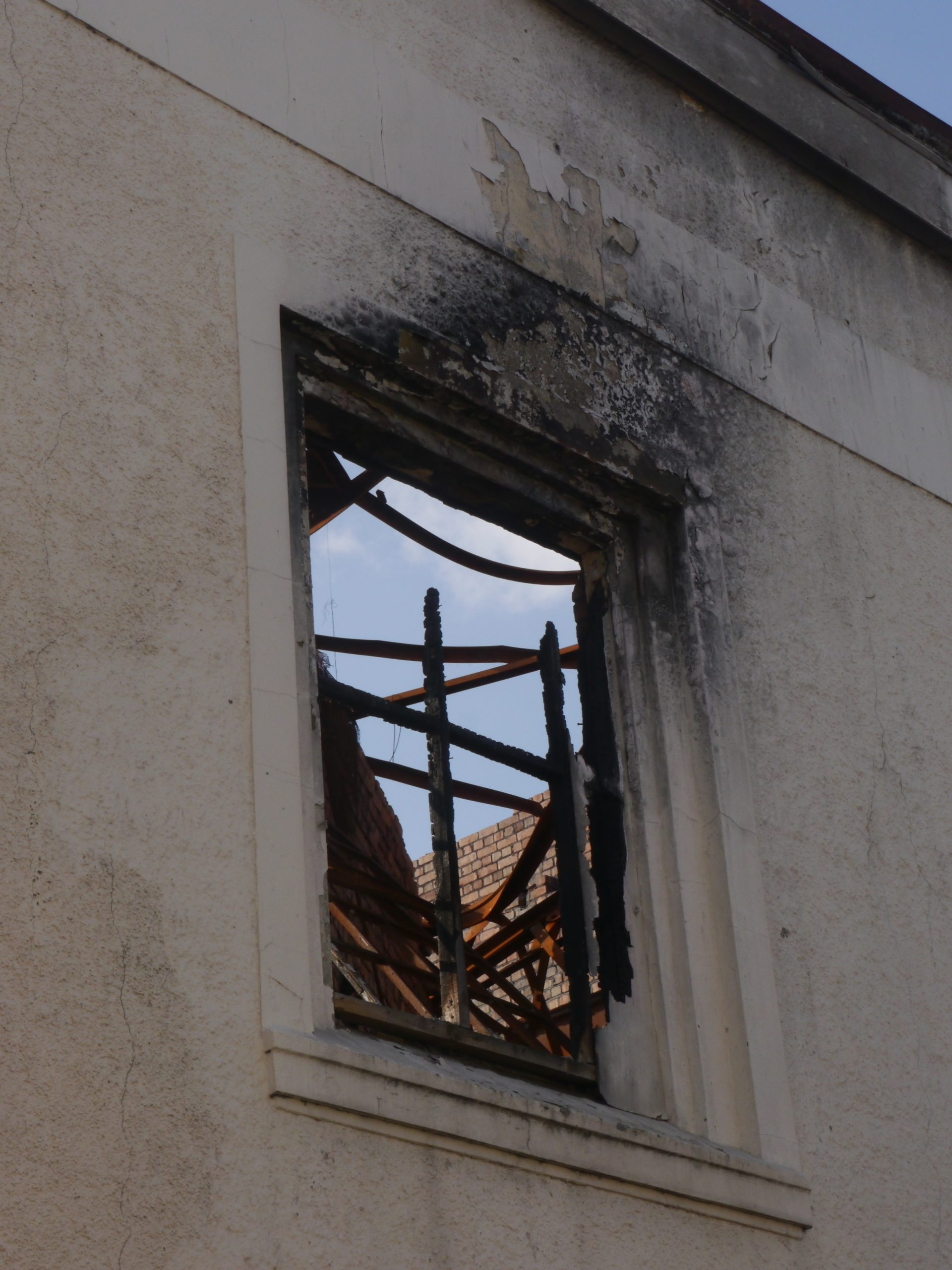 Bingo Hall Burned Window by Tamsin Stirling