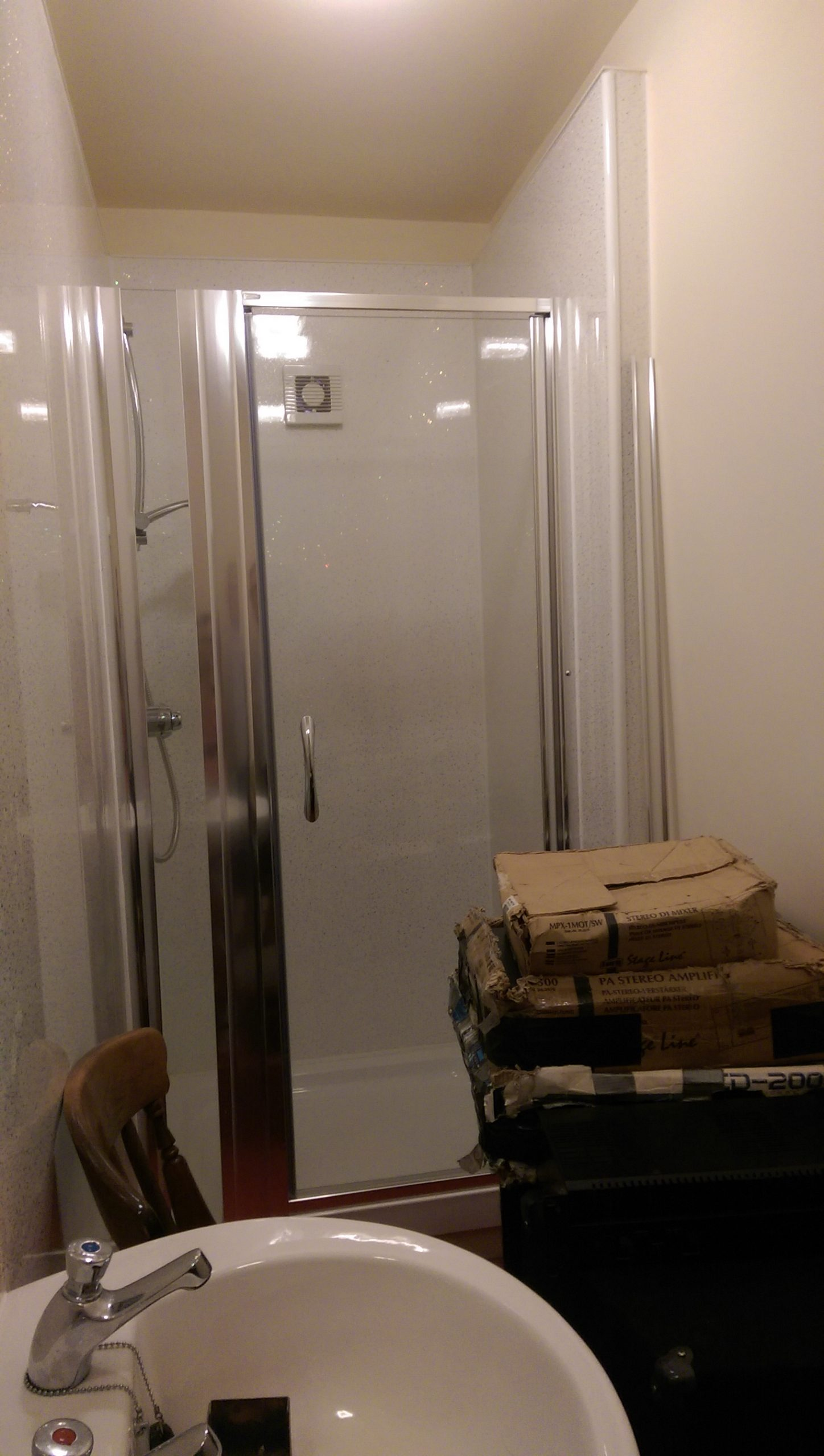 Shower room almost finished